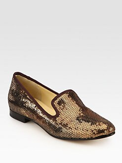 Cole Haan - Sabrina Sequin Smoking Slippers
