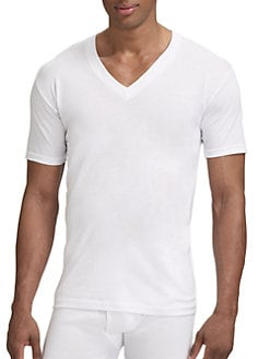 Saks Fifth Avenue Men's Collection - V-Neck Tee/3-Pack
