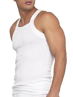 2XIST - Pima Square Cut Tank
