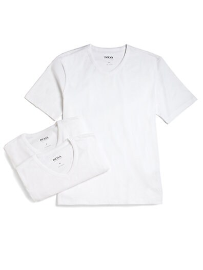 Cotton V-Neck Tee, 3-Pack