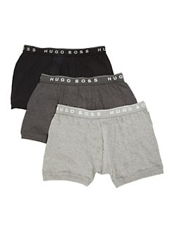 BOSS Black - Cotton Boxer Briefs, 3-Pack