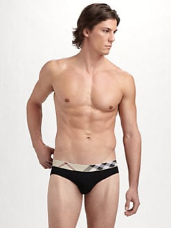 Burberry - Check-Waist Briefs