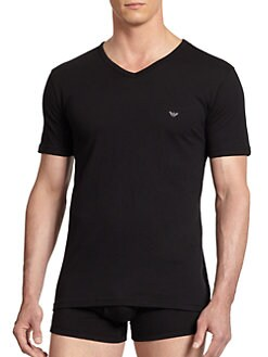 Emporio Armani - Cotton V-Neck Tee, 3-Pack