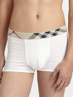 Burberry - Check-Waist Boxer Briefs