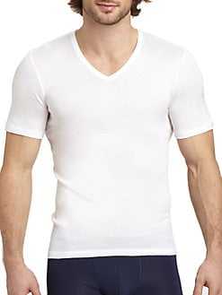 Hanro - Ribbed V-Neck Tee