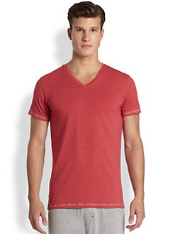 Diesel - Michael Cotton Knit V-Neck Tee