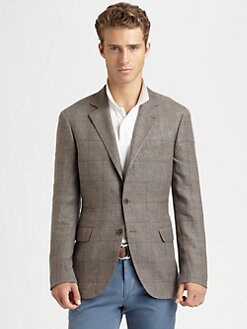 Brunello Cucinelli - Traditional Windowpane Jacket