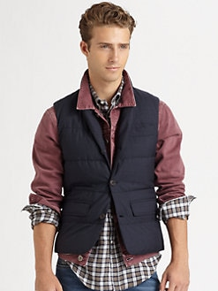 Brunello Cucinelli - Wool Shawl Collar Vest