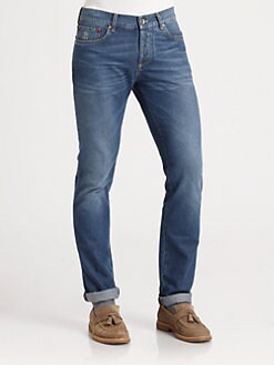Brunello Cucinelli - Five-Pocket Denim Jeans