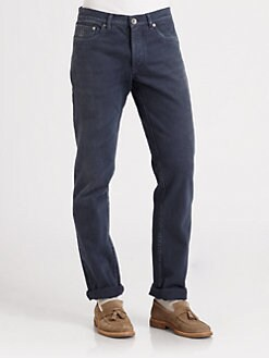 Brunello Cucinelli - Color Washed Five-Pocket Denim Jeans