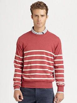 Brunello Cucinelli - Striped Crewneck Sweater