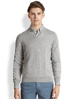 Brunello Cucinelli - Wool and Cashmere V-Neck Sweater