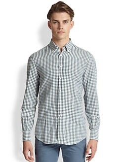 Brunello Cucinelli - Linen and Cotton Check Sportshirt