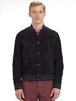Brunello Cucinelli - Suede Baseball Jacket