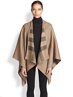 Burberry - Charlotte Check-Lined Wool Wrap