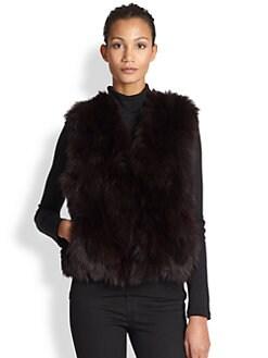 Adrienne Landau - Fox & Rabbit Fur Vest