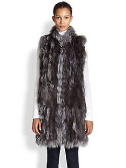 Adrienne Landau - Oversized Fox Fur Vest