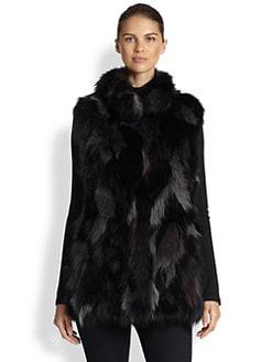 Pologeorgis - Textured Fox Fur Vest