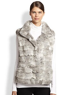 Glamourpuss - Sculpted Rabbit Fur Vest