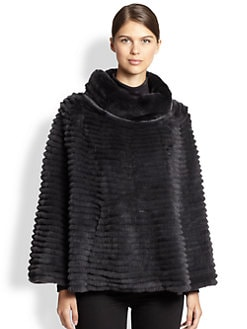 Glamourpuss - Venetian Layered Rabbit Fur Poncho