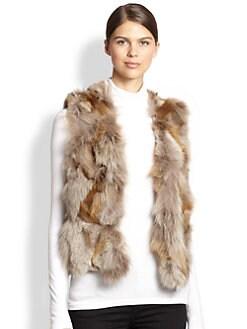 Adrienne Landau - Text Fox & Rabbit Fur Vest