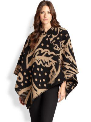 Thistle Motif Wool & Cashmere Wrap