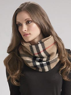 Burberry - Giant Check Cashmere Snood