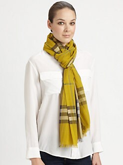 Burberry - Giant Check Silk Scarf