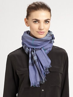 Burberry - Gauze Giant Check Scarf