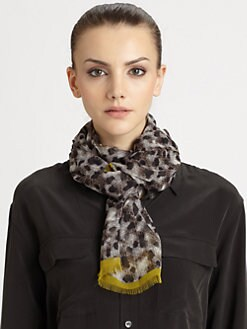 Burberry - Chalk Dot Silk Scarf
