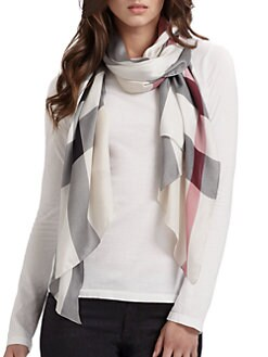 Burberry - Mega Check Silk Scarf