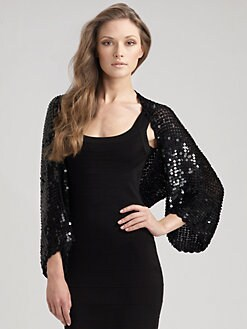 Harrison Morgan - Sequin Crochet Shrug