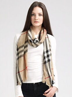 Burberry - Giant Check Crinkled Scarf
