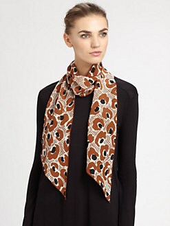 Burberry - Silk Animal Print Scarf