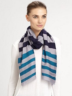 Burberry - Woven Striped Scarf