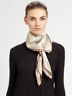 Burberry - Silk Square Check Scarf