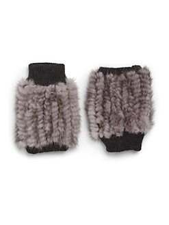 Jocelyn - Mink Fingerless Gloves <br>