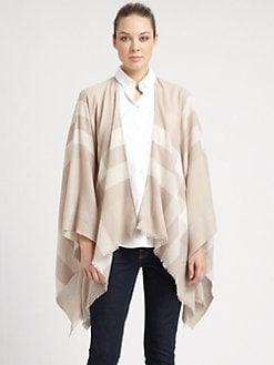 Burberry - Colette Check Wool Cape