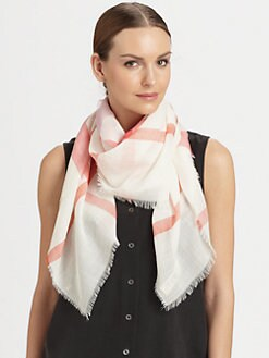 Burberry - Multicolor Check Gauze Scarf
