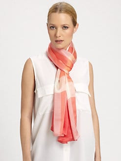 Burberry - Oblong Check Cashmere & Modal Scarf