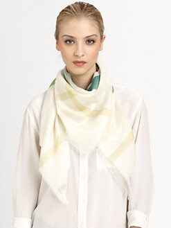 Burberry - Multicolour Gauze Scarf