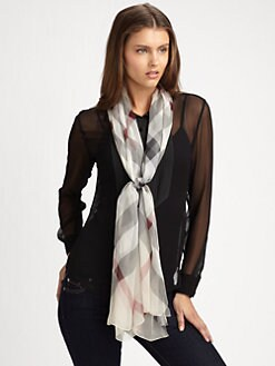 Burberry - Silk Half Mega Check Scarf