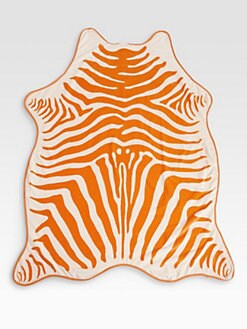 Maslin & Co - Zebra Hide Beach Towel & Crossbody Leather Holster