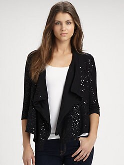 Minnie Rose - Sequined Fly-Away Cardigan