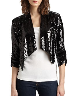 Harrison Morgan - Draped Sequined Bolero Jacket