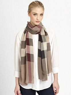 Burberry - Oblong Check Scarf