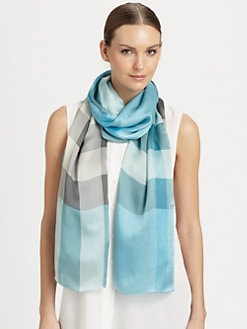Burberry - Silk Check Scarf