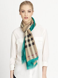 Burberry - Haymarket Check Border Scarf