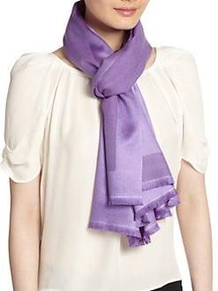 Bajra - Satin Weave Cashmere & Silk Scarf