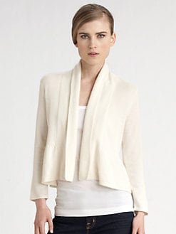 White + Warren - Peplum Shrug